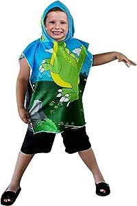 连帽浴巾 沙滩毛巾套装 - 超柔软,适合婴儿、男孩、女孩、幼儿。 Ht-dino Too HT-DINO TOO