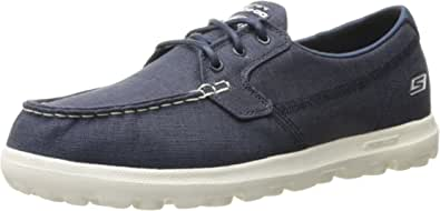 Skechers Performance Men's On the Go Vessel Boating Shoe Navy Canvas 11 D(M) US