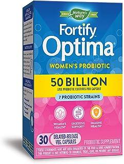 Nature's Way 澳萃维 Fortify Optima 女性500亿益生元,嗜酸菌,30粒(新外观,包装可能有所不同)