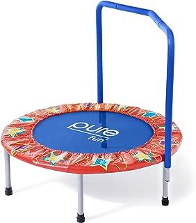 Pure Fun 36 英寸带扶手的儿童蹦床