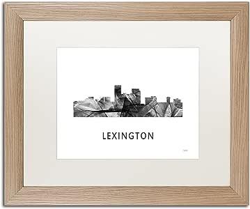 Trademark Fine Art MW0451-T1114MF Lexington 肯塔基州天际线 WB-BW 由 Marlene Watson 创作 16x20 MW0451-T1620MF
