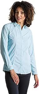 ExOfficio 女士 BugsAway Zeta 条纹长袖衬衫 X-S 蓝色 mp-613543979285