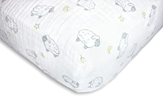 swaddledesigns 棉质婴儿床床单 Little Lambs Sterling