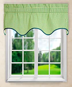 "Ellis Curtain Strobe Wave Valance, 50 x 15"", Seaspray"