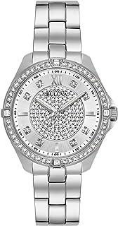 Bulova 女式石英不锈钢休闲手表,颜色:银色调(型号:96L236)