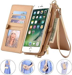 SINIANL iPhone XS Max/XR/XS/X/8/8 Plus/7/7 Plus 皮革钱包卡包