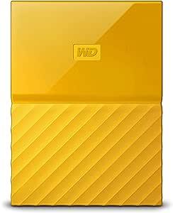 Western Digital 1TB 黄色My Passport便携式外接硬盘-USB 3.0-WDBYNN0010BYL-WESN