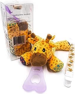 5 合 1 通用安抚奶嘴支架,安抚奶嘴盒,含奶嘴夹,长颈鹿
