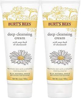 Burt's Bees 深层洁面奶油色,肥皂树皮和洋甘菊 Soap Bark and Chamomile 6盎司(2包装)
