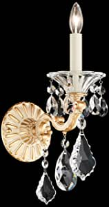 Schonbek 5000-59A 施华洛世奇照明 La Scala 壁灯,Ferro 黑色 需配变压器