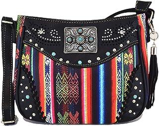 Native Studded 隐藏携带钱包 女式水钻斜挎包 皮革单肩包