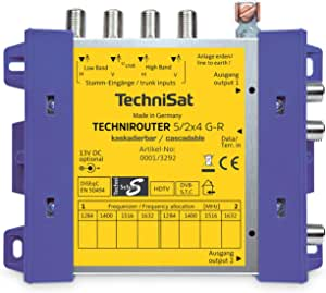 TechniSat TECHNIROUTER 5/2x4 G-R,单线电缆供两个电缆线束,1个通过单电缆的轨道位置(非电缆多开关)