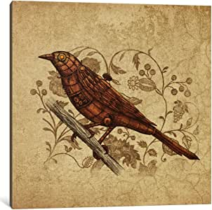 iCanvasART TFN186-1PC3-12x12 Steampunk Songbird Square Canvas Print by Terry Fan, 12 x 12 x 0.75-Inch