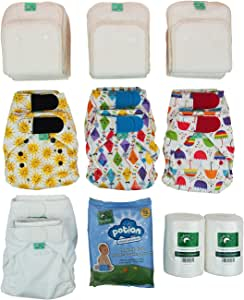 TotsBots 可重复使用的尿布套装