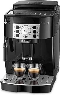 De'Longhi 德龍 Magnifica S ECAM 22.110.B – 全自動咖啡機帶牛奶起泡噴嘴 直接選擇按鈕及旋鈕 2杯功能 1.8升大水箱 35.1 x 23.8 x 43厘米 黑色