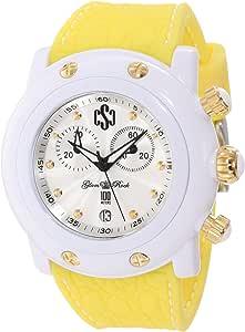"Glam Rock 女式""迈阿密海滩""石英塑料硅胶休闲手表,颜色:黄色(型号:GD1103)"