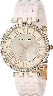ANNE KLEIN 女士 AK/2130RGLP 施华洛世奇水晶点缀手镯表,Light Pink/Rose Gold,均码