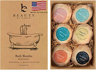 Bath Bombs Gift Set; Organic and Natural Large and Luxurious Vegan Fizzies, Lush Fragrant Essential Oils, Surprise Gift for Men, Women and Kids; Best Relaxing Epsom Salt Luxury Spa Soak (6 Pack Kit)