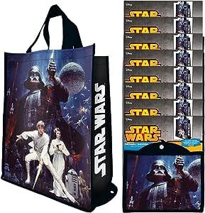 Vandor (8 包)可重复使用的购物袋灯泡,儿童和成*手提袋,批量套装可折叠带手柄,适合购物和杂货 星球大战 99076