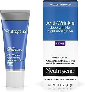 Neutrogena 露得清 持久保湿抗皱视黄醇乳霜,含透明质酸-夜间保湿乳霜,含视黄醇,维生素E,甘油,透明质酸和乳木果,1.4盎司,39克