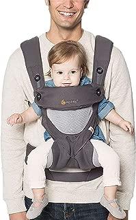 Ergobaby 婴儿背袋 360 - Cool Air 炭灰色 4种婴儿背袋模式 婴儿背袋