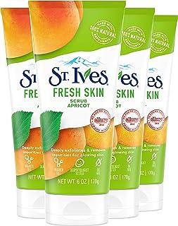 St.Ives圣艾芙杏子活力磨砂洁肤膏,10盎司(约283.5g) 6 oz, 4 Count