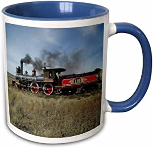 edmond hogge JR – Trains – 蒸汽发动机机车 – 马克杯 蓝/白 11-oz Two-Tone Blue Mug