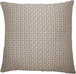 "The Pillow Collection Nahuel 几何图案欧式枕套棕色 棕色 Queen/20"" x 30"" QUEEN-D-71113-BROWN-P100"