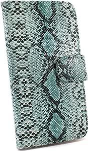 whitenuts 保护套翻盖式蛇纹  蓝色 2_ Xperia XA2 H4133