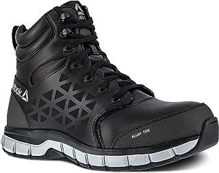 Reebok Work 男士 Sublite 软垫*鞋头 15.24 厘米运动工作靴 黑色 4.5