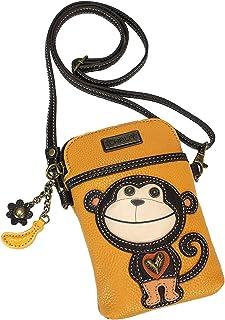 Chala Monkey Cellphone Crossbody Handbag - Convertible Strap