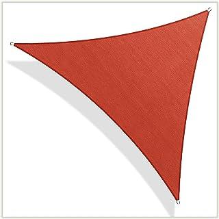ColourTree 定制尺寸定制遮阳帆遮阳篷网眼面料防紫外线三角形 TAPT28 - 商业标准重型- 190 GSM - 3 年保修 28' x 28' x 28'