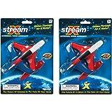 (2件装)散装保险杠74500 X-Stream(12.7cm)滑行手推进子飞机玩具