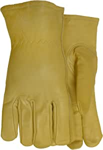 MidWest Gloves and Gear  Cowhide Leather Work Glove with Fleece Lining Yellow Beige XL