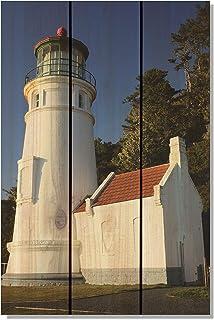 Gizaun Art Light House Inside/Outside Full Color Cedar Wall Art 16 x 24 in.