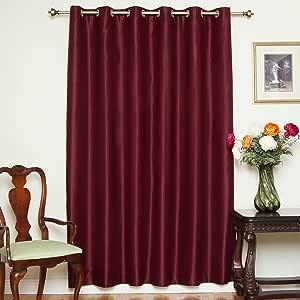 """遮光窗帘 80 英寸(约 203.2 厘米)或 100 英寸(约 254 厘米)宽,镍金属孔环高级保温绝缘窗帘片,有 84、96、和108 英寸(约 213.4、243.8 和 274.3 厘米)长可选。 *红色 80"""" W X 108"""" L BO-WN-081003"""