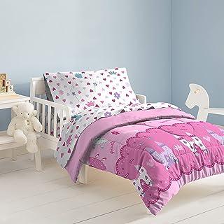 dream FACTORY 魔法公主床上用品4件套,幼儿,粉色
