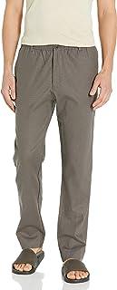 28 Palms 男式标准修身弹力亚麻裤,带抽绳