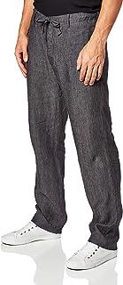 Perry Ellis 男式抽绳亚麻裤