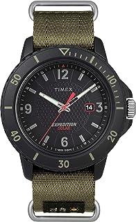 Timex Mens 带子TW4B14500 Analogue Classic Textile Green TW4B14500