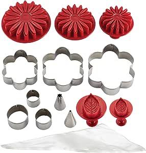 蛋糕老花蛋糕套件装饰工具 亮灰色 Flower 59581
