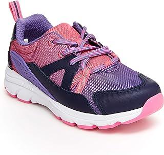 Stride Rite 女童 M2P 旅行运动鞋,紫色多色,13.5 宽小童