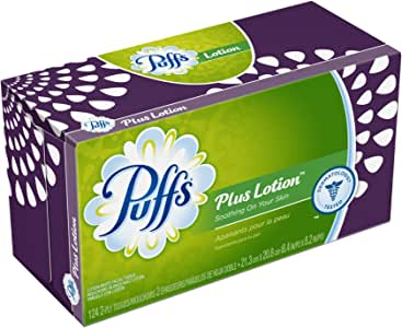 Puffs Plus Lotion Facial Tissues;124 Tissues Per Box (Pack of 24)