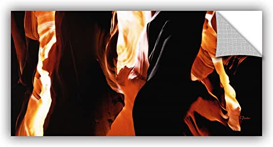 """ArtWall """"Linda Parker's Slot Canyon Light from Above 3"""" Removable Wall Art, 24"""" x 48"""""""
