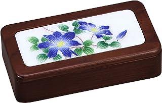彩光舍 摆件 - 7.5×14.5×3.5cm 彩光舍 七宝烧 印章盒 铁线 121-02