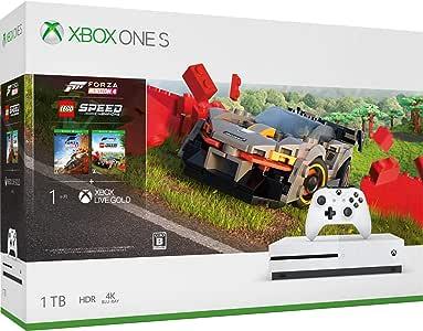 Xbox One S 1TB 游戏主机+ 极限竞速:地平线4 + 乐高竞速 同捆套装