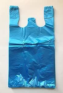 RG 大号塑料杂货 T 恤 便携包 蓝色 未印刷 30.48 X 15.24 X 53.34 厘米 蓝色 12 X 6 X 21 LX-002