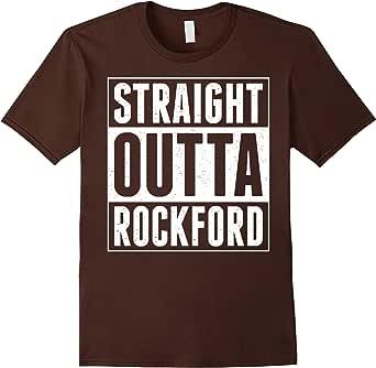 Straight Outta Rockford TShirt 棕色 Male 2XL
