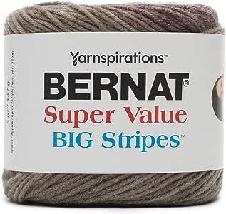 Bernat 超值大条纹纱线 Ber Sv Big Stripes 3-142g Shifting Sands 16405454002
