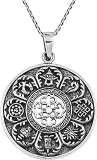 AeraVida 古老西藏护身符.925 纯银吊坠项链